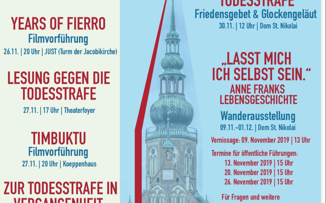 Cities for Life – Greifswalder Aktionswoche gegen die Todesstrafe
