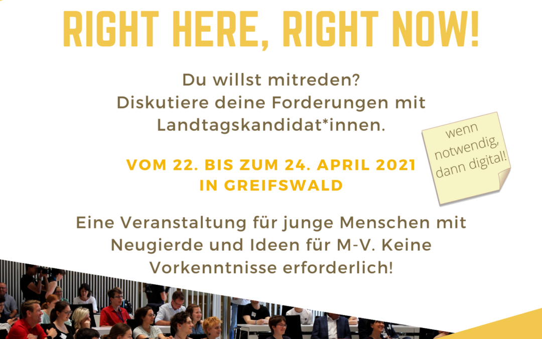 """Save-the-date: Jugendkonferenz """"RIGHT HERE – RIGHT NOW!"""""""